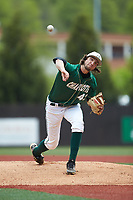 Charlotte 49ers starting pitcher Colton Laws (42) delivers a pitch to the plate against the Marshall Thundering Herd at Hayes Stadium on April 23, 2016 in Charlotte, North Carolina. The Thundering Herd defeated the 49ers 10-5.  (Brian Westerholt/Four Seam Images)