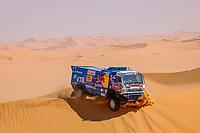 5th January 2021; Dakar Rally stage 3; #501 Shibalov Anton (rus), Nikitin Dmitrii (rus), Tatarinov Ivan (rus), Kamaz, Kamaz - Master, Camion, Truck, action during the 3rd stage of the Dakar 2021 between Wadi Al Dawasir and Wadi Al Dawasir, in Saudi Arabia on January 5, 2021