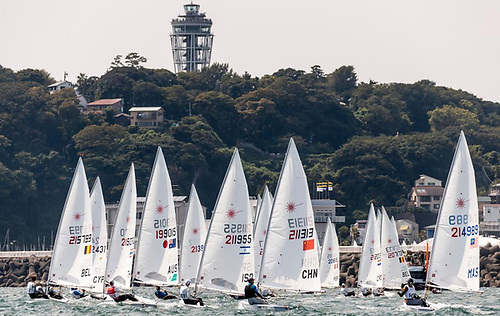 The 35-boat Tokyo mens Laser fleet will sail ten races ahead of their Medal Race on Sunday 1 August