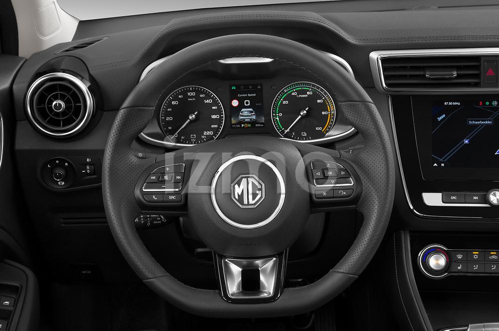 Car pictures of steering wheel view of a 2020 Mg MG-ZS-EV Luxury 5 Door SUV Steering Wheel