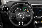 Car pictures of steering wheel view of a 2020 Mg MG-ZS-EV Luxury 5 Door SUV Steering Wheel