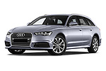 Stock pictures of low aggressive front three quarter view of a 2018 Audi A6 Avant Business Edition 5 Door Wagon