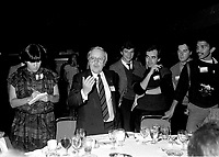 Yves Michaud attend the Rene Levesque tribute at Montreal's convention centre, October 2nd,1985.<br /> <br /> File Photo : Agence Quebec Presse - Pierre Roussel