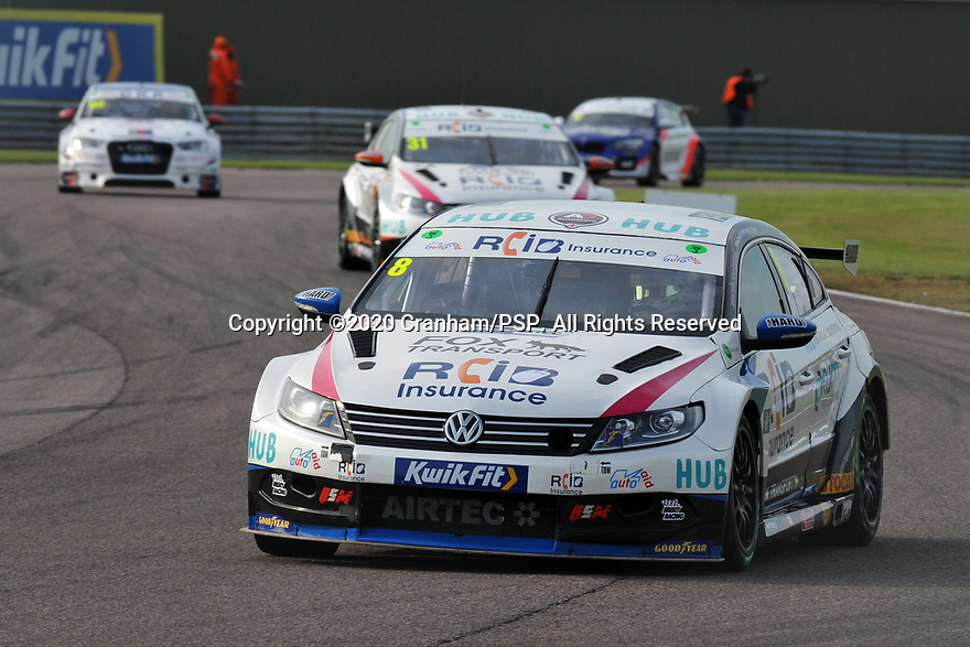 Round 5 of the 2020 British Touring Car Championship. #08 Tom Onslow-Cole. RCIB Insurance with FOX Transport. Volkswagen CC.