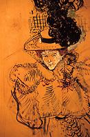 Europe/France/Midi-Pyrénées/81/Tarn/Albi: Musée Toulouse Lautrec - La veuve blanche -Dessin de Toulouse Lautrec