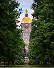 July 13, 2021; Main Building summer 2021 (Photo by Matt Cashore/University of Notre Dame)
