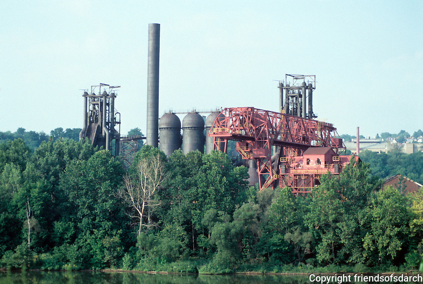 Pittsburgh: A Mill amid the verdure across the Monongahela River from Munhall--in Rankin? Photo 2001.