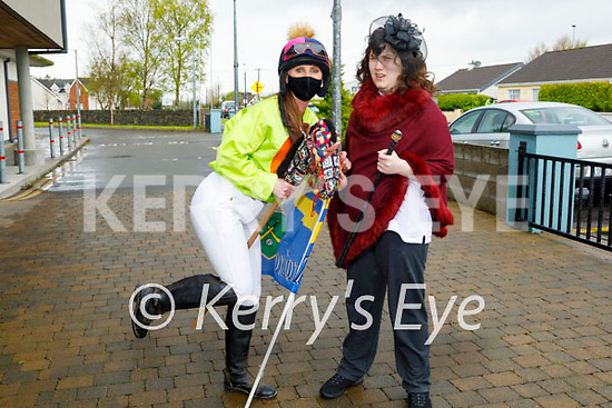 Nano Nagle school in Listowel getting ready for their horse racing fundraiser at the school on Monday. L to r: Anita Barry and Erin Hartnett.