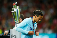 Virgil van Dijk of Netherlands walks past the trophy after collecting his runner-up medal after the UEFA Nations League Final match between Portugal and Netherlands at Estadio do Dragao on June 9th 2019 in Porto, Portugal. (Photo by Daniel Chesterton/phcimages.com)<br /> Finale <br /> Portogallo Olanda<br /> Photo PHC/Insidefoto <br /> ITALY ONLY