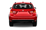 Straight rear view of 2017 Mitsubishi ASX Instyle 5 Door SUV Rear View  stock images