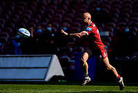 24th April 2021; Kingsholm Stadium, Gloucester, Gloucestershire, England; English Premiership Rugby, Gloucester versus Newcastle Falcons; Willi Heinz of Gloucester passes the ball down the line