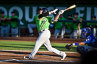 Corey Zangari (35) of the Great Falls Voyagers at bat against the Ogden Raptors in Pioneer League action at Lindquist Field on August 16, 2016 in Ogden, Utah. Ogden defeated Great Falls 2-1. (Stephen Smith/Four Seam Images)
