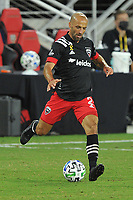 WASHINGTON, DC - SEPTEMBER 12: Federico Higuain #2 of D.C. United moves the ball during a game between New York Red Bulls and D.C. United at Audi Field on September 12, 2020 in Washington, DC.