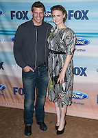 SANTA MONICA, CA, USA - SEPTEMBER 08: David Boreanaz, Emily Deschanel arrive at the 2014 FOX Fall Eco-Casino Party held at The Bungalow on September 8, 2014 in Santa Monica, California, United States. (Photo by Xavier Collin/Celebrity Monitor)