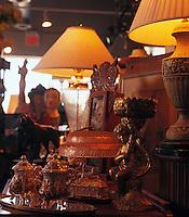 Merchandise in an antique store