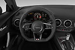 Car pictures of steering wheel view of a 2019 Audi TTS-Coupe Base 3 Door Coupe