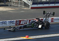 Feb 8, 2020; Pomona, CA, USA; NHRA top fuel driver Brittany Force during qualifying for the Winternationals at Auto Club Raceway at Pomona. Mandatory Credit: Mark J. Rebilas-USA TODAY Sports