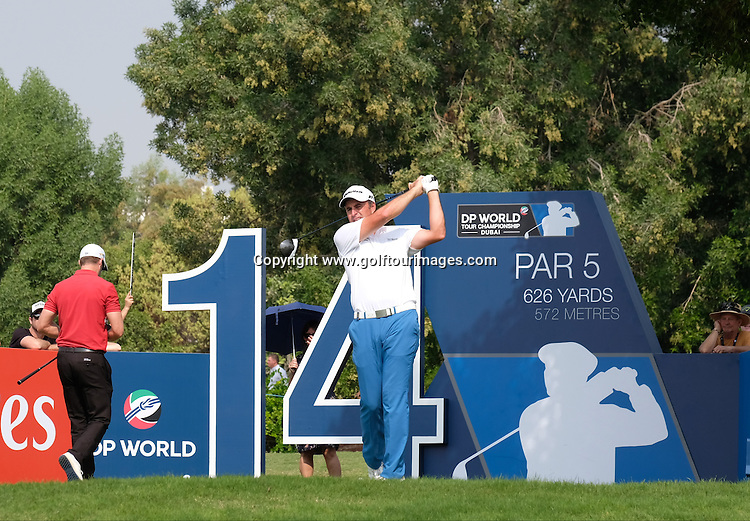 Richard BLAND (ENG) during round three of the 2016 DP World Tour Championships played over the Earth Course at Jumeirah Golf Estates, Dubai, UAE: Picture Stuart Adams, www.golftourimages.com: 11/19/16