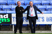 Steve Cooper Head Coach of Swansea City and Chairman Trevor Birch during the Sky Bet Championship match between Reading and Swansea City at the Madejski Stadium in Reading, England, UK. Wednesday 22 July 2020.