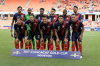 Houston, TX - Tuesday July 11, 2017: Team photo of the Costa Rica starting XI at the National Teams of Canada and Costa Rica in Group A action during a 2017 CONCACAF Gold Cup match played at BBVA Compass Stadium.