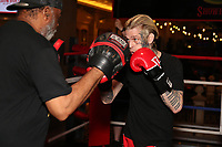 ATLANTIC CITY, NJ - JUNE 8 : Aaron Carter  training at the Showboat hotel on June 8, 2021 in Atlantic City, New Jersey for the Lamar Odom vs. Aaron Carter Celebrity Boxing match this Friday, June 11 Credit: Star Shooter/MediaPunch