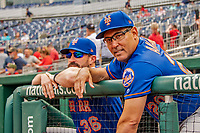 22 September 2018: New York Mets first base coach Ruben Amaro Jr awaits the start of play against the Washington Nationals at Nationals Park in Washington, DC. The Nationals shut out the Mets 6-0 in the 3rd game of their 4-game series. Mandatory Credit: Ed Wolfstein Photo *** RAW (NEF) Image File Available ***