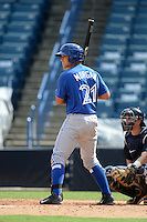 Toronto Blue Jays catcher Matt Morgan (21) during an Instructional League game against the New York Yankees on September 24, 2014 at George M. Steinbrenner Field in Tampa, Florida.  (Mike Janes/Four Seam Images)