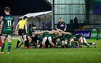 27th December 2020 | Connacht  vs Ulster <br /> <br /> Scrum set during the PRO14 Round 9 clash again Connacht at the Sportsground in Galway, Ireland. Photo by John Dickson/Dicksondigital