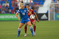 Finland's Adelina Engman and Spain's Leila Ouahabi during the match of  European Women's Championship 2017 at Leganes, between Spain and Finland. September 20, 2016. (ALTERPHOTOS/Rodrigo Jimenez) NORTEPHOTO