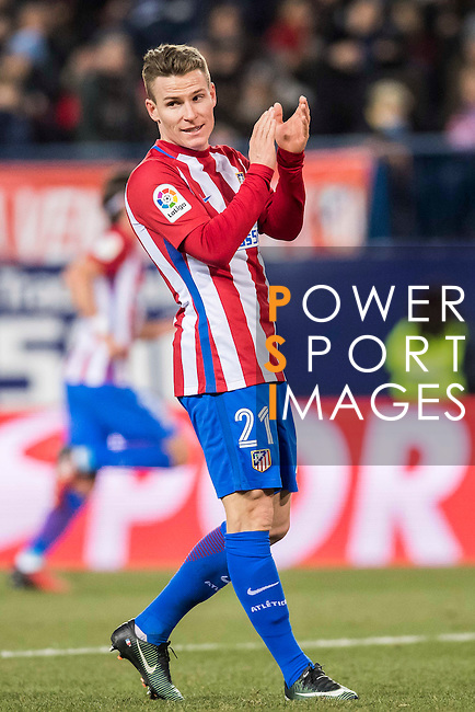 Kevin Gameiro of Atletico de Madrid reacts during their Copa del Rey 2016-17 Quarter-final match between Atletico de Madrid and SD Eibar at the Vicente Calderón Stadium on 19 January 2017 in Madrid, Spain. Photo by Diego Gonzalez Souto / Power Sport Images