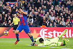FC Barcelona's Luis Suarez, Real Madrid's Keylor Navas during spanish La Liga match between Futbol Club Barcelona and Real Madrid  at Camp Nou Stadium in Barcelona , Spain. Decembe r03, 2016. (ALTERPHOTOS/Rodrigo Jimenez)