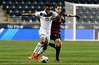 Chester, PA - Friday December 08, 2017: Ezana Kahsay, Foster Langsdorf The Stanford Cardinal defeated the Akron Zips 2-0 during an NCAA Men's College Cup semifinal match at Talen Energy Stadium.