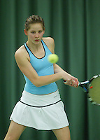 10-3-06, Netherlands, tennis, Rotterdam, National indoor junior tennis championchips, Emma Verberne