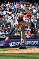 Apr 03, 2011; Bronx, NY, USA; Detroit Tigers pitcher Max Scherzer (37) during game against the New York Yankees at Yankee Stadium. Tigers defeated the Yankees 10-7. Mandatory Credit: Tomasso De Rosa