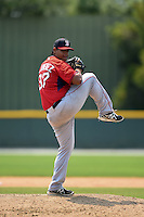 Boston Red Sox pitcher Dedgar Jimenez (37) during a minor league spring training game against the Baltimore Orioles on March 20, 2015 at Buck O'Neil Complex in Sarasota, Florida.  (Mike Janes/Four Seam Images)