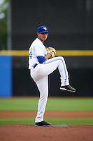 Dunedin Blue Jays starting pitcher Juliandry Higuera (44) delivers a pitch during a game against the Palm Beach Cardinals on April 15, 2016 at Florida Auto Exchange Stadium in Dunedin, Florida.  Dunedin defeated Palm Beach 8-7 in ten innings.  (Mike Janes/Four Seam Images)