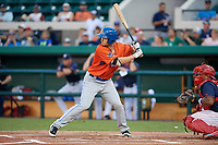 St. Lucie Mets Patrick Mazeika (18) bats during the Florida State League All-Star Game on June 17, 2017 at Joker Marchant Stadium in Lakeland, Florida.  FSL North All-Stars defeated the FSL South All-Stars  5-2.  (Mike Janes/Four Seam Images)
