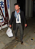 Frank Grillo Checks His Phone Before Arriving at Craig's In West Hollywood
