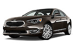 Low aggressive front three quarter view of a 2014 KIA Cadenza Sedan