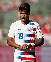 CARSON, CA - FEBRUARY 1: Ulysses Llanez Jr #19 of the United States during a game between Costa Rica and USMNT at Dignity Health Sports Park on February 1, 2020 in Carson, California.