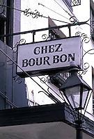 Chez Bourbon restaurant in the French Quarter, city of New Orleans, Louisiana, NOLA, USA