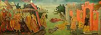 The Legend of Cloelia, c. 1480, <br /> Guidoccio di Giovanni Cozzarelli (1450–1516). The Metropolitan Museum of Art, New York.