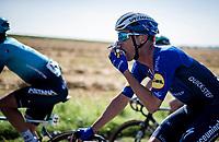 Iljo Keisse (BEL/Deceuninck - Quick Step) snacking mid-race<br /> <br /> 17th Benelux Tour 2021<br /> Stage 5 from Riemst to Bilzen (BEL/192km)<br /> <br /> ©kramon