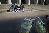 A group of Pro-Life advocate pose for a group photo following a rally at the Statehouse in Columbus, Ohio, Monday, Nov. 23, 2006 on the 33rd anniversary of the Supreme Court Roe v. Wade decision.<br />