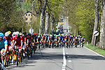 The peleton in action during La Fleche Wallonne 2018 running 198.5km from Seraing to Huy, Belgium. 18/04/2018.<br /> Picture: ASO/Karen Edwards | Cyclefile <br /> <br /> All photos usage must carry mandatory copyright credit (© Cyclefile | ASO/Karen Edwards)