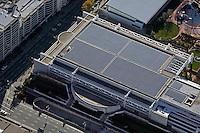aerial photograph solar panel roof Moscone Convention Center San Francisco California San Francisco, California