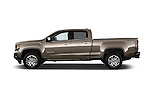 Car Driver side profile view of a 2015 GMC Canyon SLT Crew Cab SWB 4 Door Truck Side View