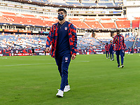NASHVILLE, TN - SEPTEMBER 5: Christian Pulisic #10 of the United States walks off the field during a game between Canada and USMNT at Nissan Stadium on September 5, 2021 in Nashville, Tennessee.