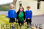 The two new Juniors who started school on Monday in Caherdaniel Nation School Norah Fitzgerald & Aibhlinn Cullen-Bain with their teacher Jacintha Kirby.