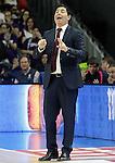 FC Barcelona's coach Xavi Pascual during Liga Endesa ACB match.Apri 12,2015. (ALTERPHOTOS/Acero)